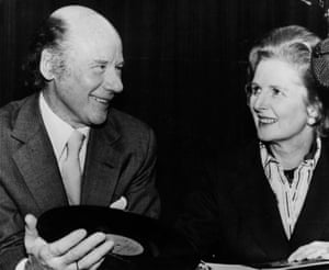 Roy Plomley with Margaret Thatcher.