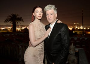 Chrysta Bell and David Lynch in Los Angeles.