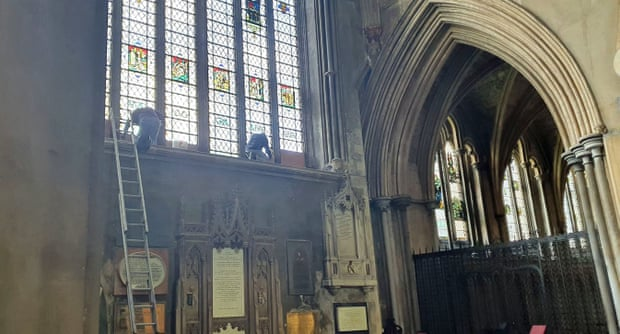 Removal of a dedication to 17th-century slave trader Edward Colston at Bristol Cathedral