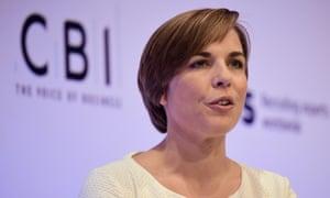 Claire Williams addresses delegates at CBI conference in London