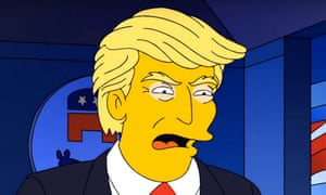The Simpson's was spot on with it's goggled-up portrayal of Donald Trump.