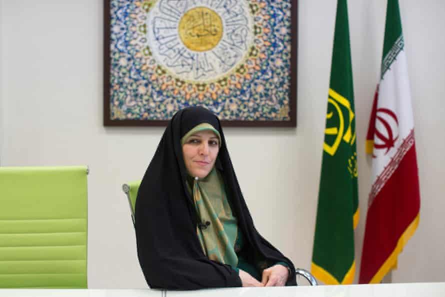 Iran's Vice President For Women And Family Affairs Shahindokht Molaverdi.
