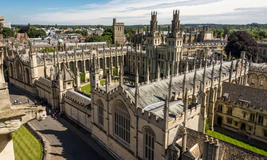 A view over All Souls College, Oxford