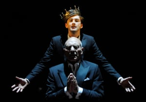 Released back into the wild … David Tennant as Hamlet and Stewart as Claudius in a 2008 RSC production.