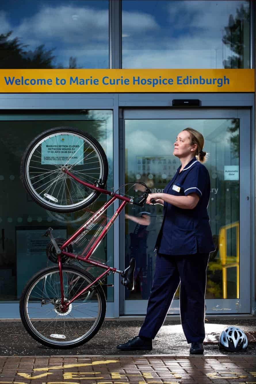 Sarah Dickinson, an in-patient nurse manager at Marie Curie hospice in Edinburgh.