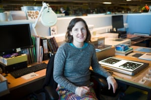 archaeologist Rachel Cubitt at her desk