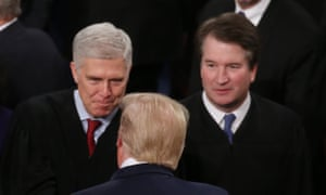 Neil Gorsuch, left, and Brett Kavanaugh were nominated by Donald Trump but Gorsuch at least has not proved as reliable an ally as the president hoped.