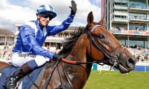 Jim Crowley and Battaash after the Nunthorpe Stakes.