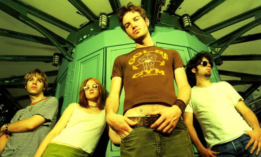 American rock band The Dandy Warhols pose for a June 1996 portrait in New York City
