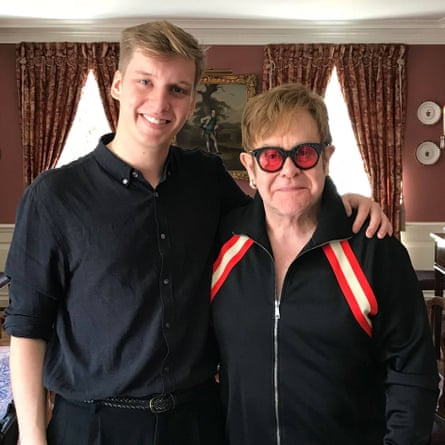 'Genial': singer-songwriter and podcast host George Ezra, with guest Elton John.