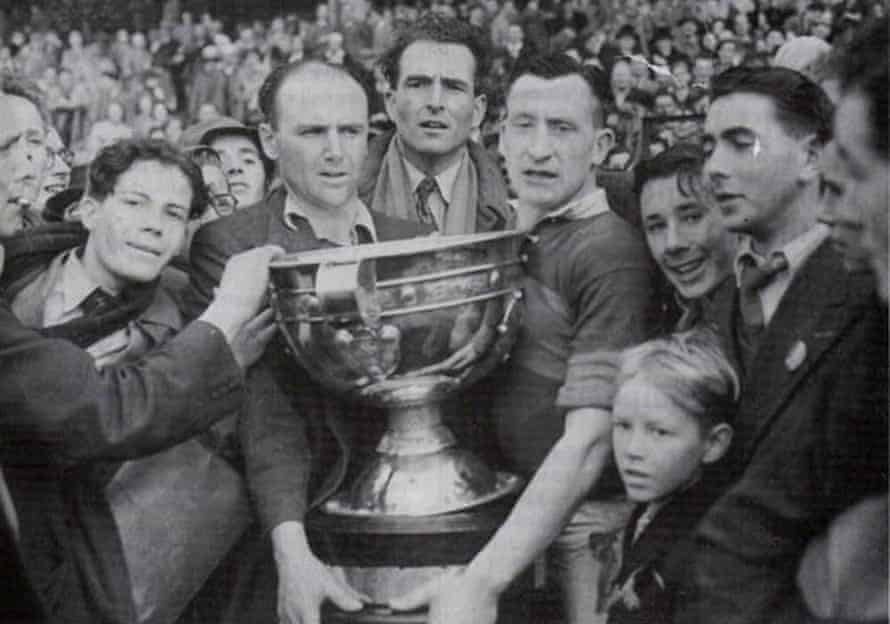 The Mayo team with           the Sam Maguire Cup in 1950.