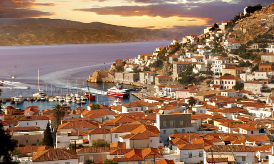 Island life: Hydra's picturesque harbour.