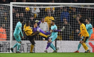 Willy Boly heads in another late goal for Wolves.