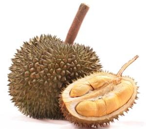 A durian fruit.