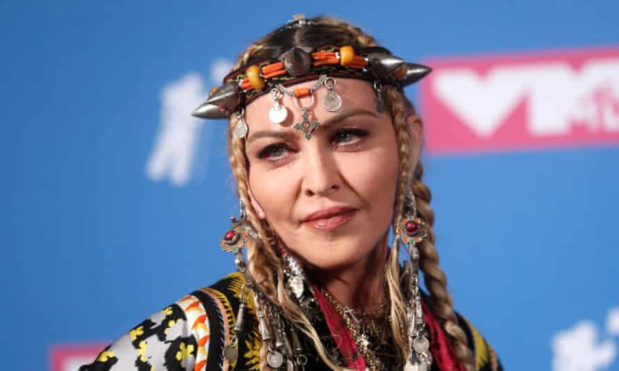 Madonna at the MTV VMA awards.