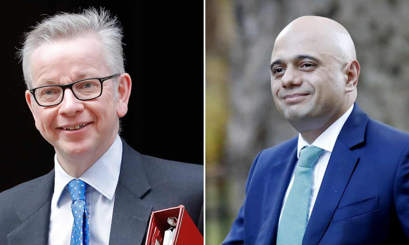Gove and Javid prepare for top jobs with congratulatory tweets