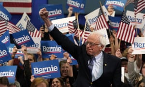 Bernie Sanders arrives to speak at a Primary Night event at the SNHU Field House in Manchester, New Hampshire on February 11, 2020.