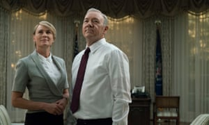 with Kevin Spacey in House Of Cards.