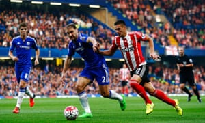 Southampton's Dusan Tadic, right, here battling with Branislav Ivanovic of Chelsea, has tops the list for crosses provided from open play.