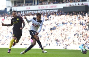 Alli scores the seond for Spurs.