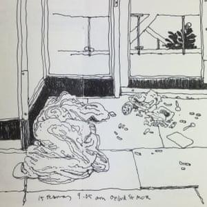 15 February, 9.05am. An empty sleeping bag in a doorway on Oxford Road by John Hewitt