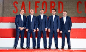 The 'class of 92': from left, Phil Neville, Nicky Butt, Ryan Giggs, Gary Neville and Paul Scholes