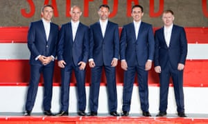 The 'class of 92': Phil Neville, Nicky Butt, Ryan Giggs, Gary Neville and Paul Scholes