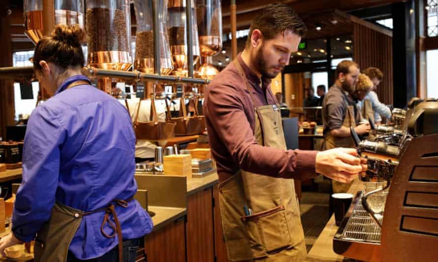 Starbucks baristas Seattle