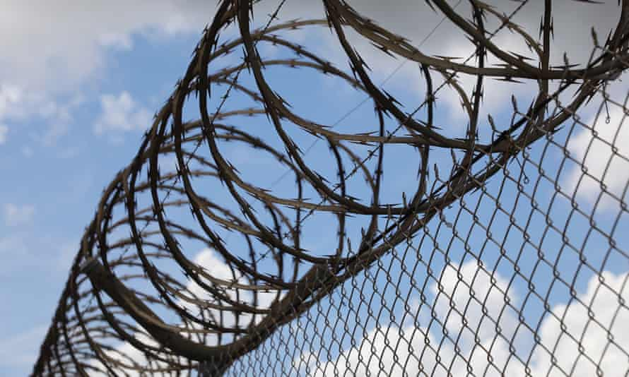 File photo of razor wire at a detention centre in Australia