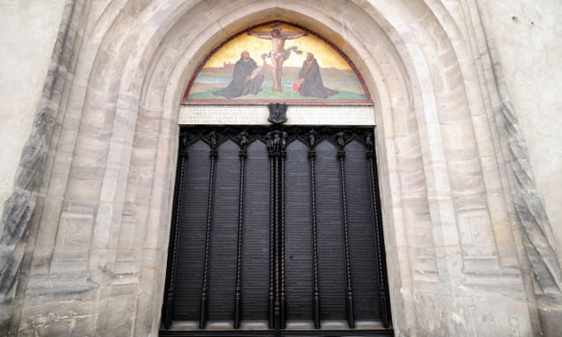 The door of Wittenberg castle church, where Martin Luther nailed his 95 theses.