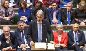 Chancellor of the Exchequer Philip Hammond making his Budget statement to MPs in the House of Commons, London.