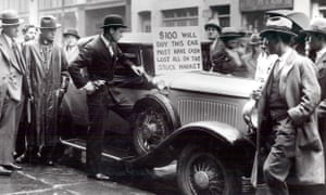A car goes on sale for $100 after the Wall Street Crash.