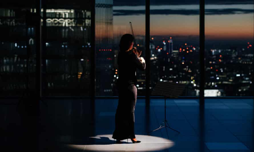 Sound of the city … the London Symphony Orchestra's Maxine Kwok performs in short film Play: Rising.