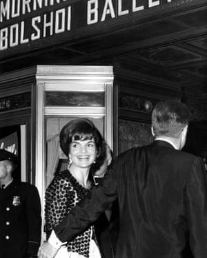 President Kennedy takes his wife to the see the Bolshoi in Washington