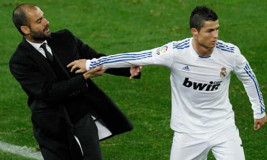 Pep Guardiola and Cristiano Ronaldo