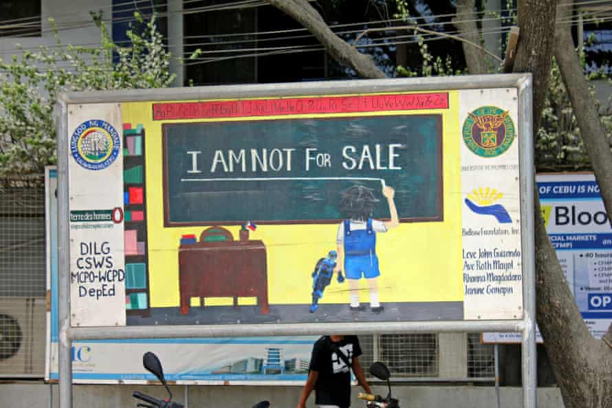 An anti-child abuse sign by a school in Cebu, the Philippines.