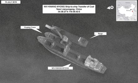 North Korean-flagged vessel conducting a ship-to-ship transfer of coal near the Chinese port of Lianyungang