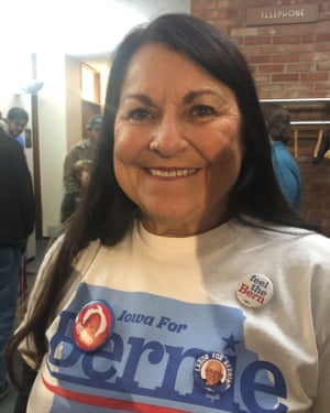 Margaret Rebik voted for Sanders in 2016, but she is unsure who she'll vote for now.