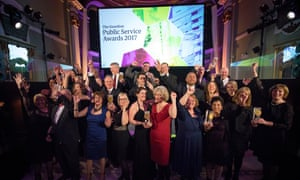 The winners of the Guardian Public Service Awards 2017.