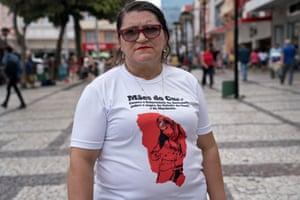 Edna Carla Souza, whose son Alef was shot dead by military police in November 2015.