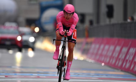 Jai Hindley of Australia and team Sunweb during the 103rd Giro d'Italia 2020 near the stage finish line in Milan