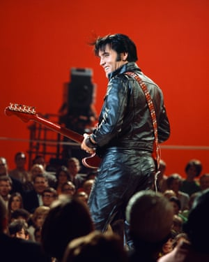 For his 1968 comeback show, Elvis opted for top-to-toe leather. While his matte biker jacket lacked the bright embellishment often favoured by designers today, his cocksure swagger (as well as that of other famous leather wearers of the era, among them Marlon Brando) typifies rock nonchalance. It's a look that today's chart-botherers, including Alex Turner, continue to channel