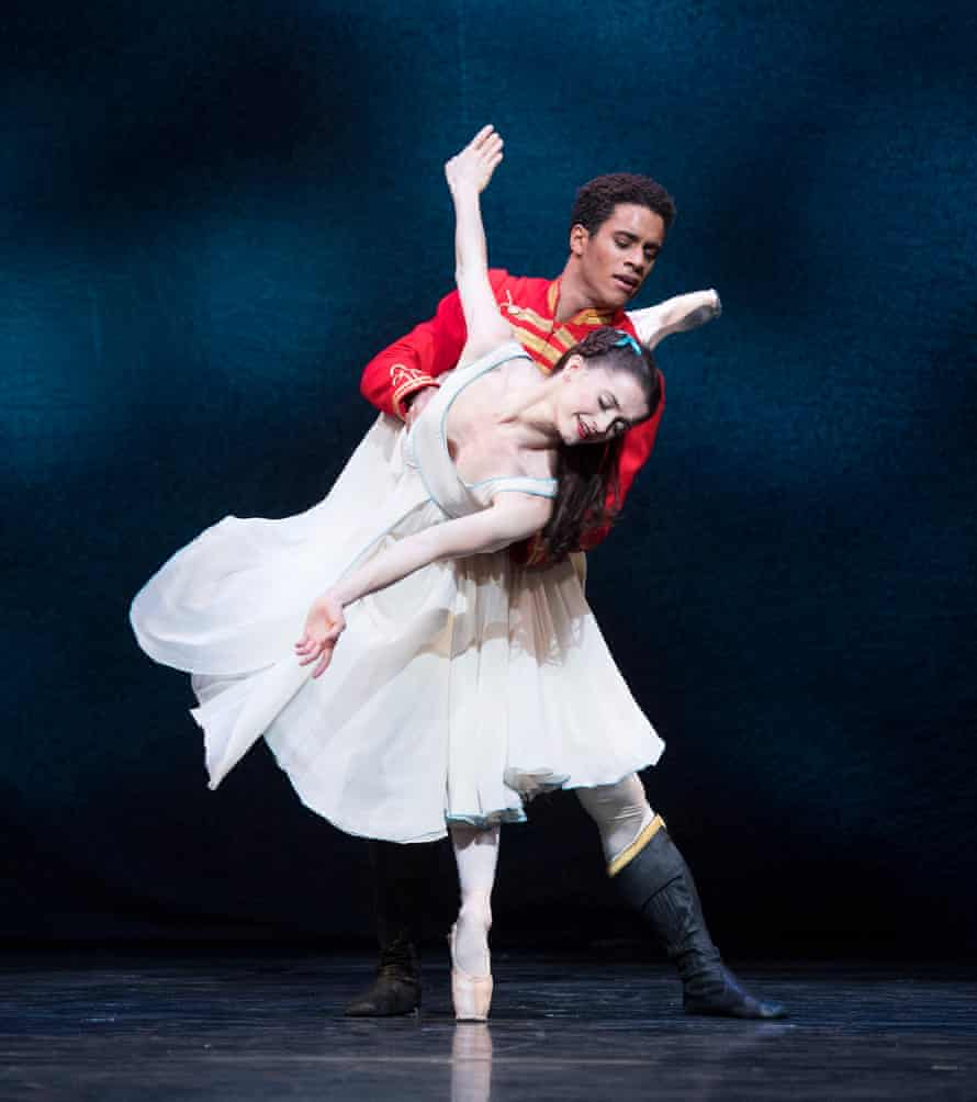 Anna Rose O'Sullivan (Clara) and Marcelino Sambé, 'charming as the day is long', in the Royal's The Nutcracker.