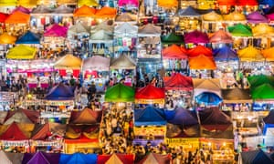 Rod Fai night market. Bangkok's markets are increasingly under threat as luxury developments spread across the city.
