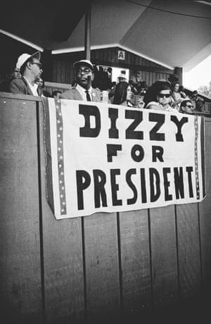 Dizzy for President, Monterey, 1964 Dizzy Gillespie by Jim Marshall