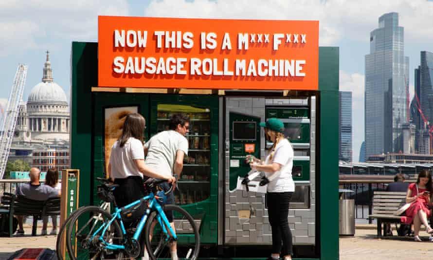 Veggie sausage roll dispenser
