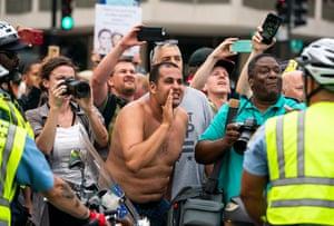 Counterprotestors at the Unite the Right rally