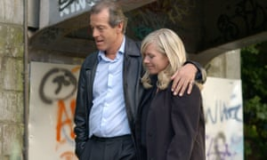 Leslie Grantham as Den, with Letitia Dean, who played his adopted daughter, Sharon.