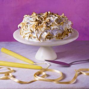 Nigella Lawson's toasted marshmallow and rhubarb cake