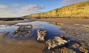 Dunraven bay in the winter sun at Southerndown on the Glamorgan Heritage Coast,